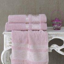 Полотенце махровое Karna Rebeka, цвет розовый, 70x140 - Karna (Bilge Tekstil)