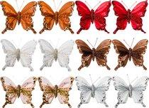 Комплект Из 12-Ти Декоративных Изделий На Клипсе Бабочки 10 см 6 Видов - Huajing Plastic Flower Factory