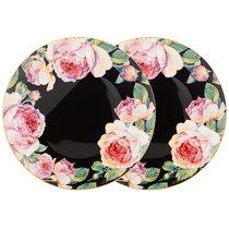 Набор Тарелок Закусочных Винтаж 2 пр. 23 см Черный - Jinding