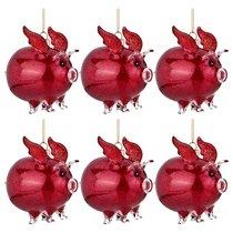 Декоративное Изделие Свинка-Ангел Цвет Фуксия Набор Из 6Шт 9x6 см Высота 9,5 см - Polite Crafts&Gifts