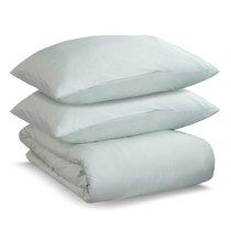 Комплект постельного белья двуспальный из сатина мятного цвета из коллекции Wild - Tkano