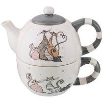 Набор Из 2 Пр. Коллекция Счастливое Семейство Чайник 385 Мл И Чашка 315 Мл - Zhenfeng Ceramics