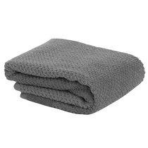 Полотенце для рук фактурное серого цвета из коллекции Essential - Tkano