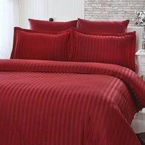 Постельное белье Karna Perla, бамбук, цвет бордовый, размер 2-спальный - Karna (Bilge Tekstil)