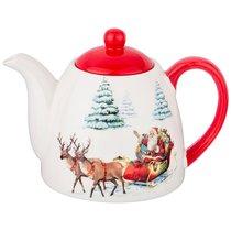 Чайник Заварочный Коллекция Новогодняя Сказка 900 мл 19,9x13x13,8 см - Zhenfeng Ceramics