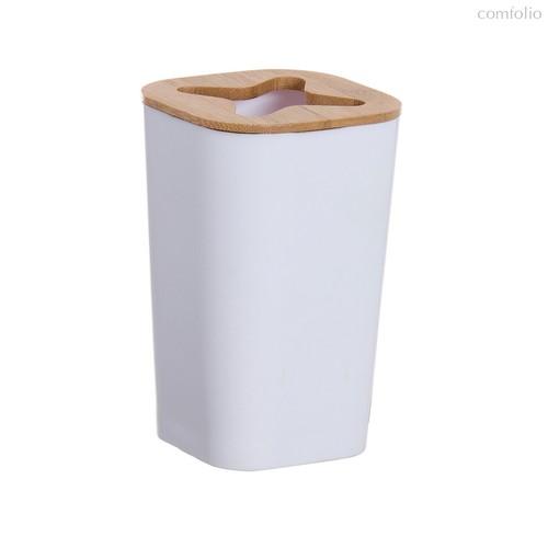 Стакан для зубных щеток Bamboo, цвет белый - D'casa