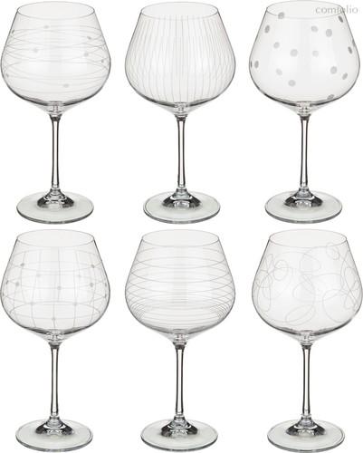 Набор бокалов для вина из 6 шт. ВИОЛА МИКС 570 млВЫСОТА=21 СМ. (КОР=1Набор.) - Crystalex