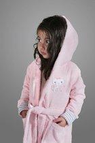 """Халат детский махровый """"KARNA"""" с капюшоном TEENY (Розовый) - Bilge Tekstil"""