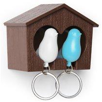Держатель для ключей Sparrow, белый/голубой - Qualy