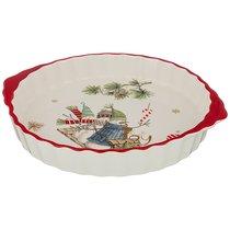 Блюдо-Шубница Зимняя Забава 29x25x4,5 см - Huachen Ceramics