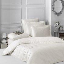 Постельное белье Karna Loft, однотонное, цвет экрю, размер 1.5-спальный - Karna (Bilge Tekstil)