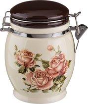 Емкость Для Сыпучих Продуктов Корейская Роза Высота 15 см / 750Мл - Huachen Ceramics