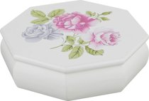 Шкатулка Для Украшений Белая С Цветами 17x4,8x17 см - Polite Crafts&Gifts