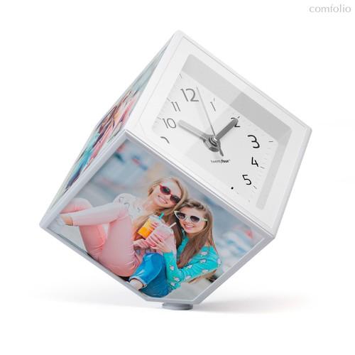 Держатель-часы для фотографий вращающийся Photo-Clock 10x10, цвет белый - Balvi