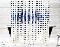 Шторы Evdy Drop для ванной, цвет синий, 180x200 - Beytug textile