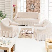 Чехол д/мягкой мебели 3-х пр.(3+1+1) JUANNA, цвет кремовый - Meteor Textile