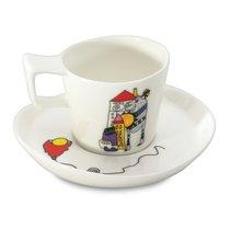 Набор 2шт чашек для эспрессо с блюдцем 0,08л Eclipse ornament - BergHOFF