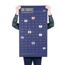 Постер «100 фильмов, которые нужно посмотреть прежде чем умереть» - DOIY