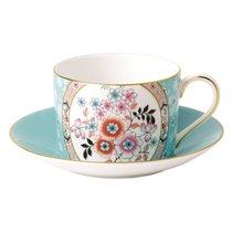 Чашка чайная с блюдцем Wedgwood Вандерласт Камелия 150мл - Wedgwood