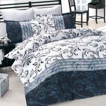 Постельное белье Altinbasak Rebecca, сатин, цвет черный, размер Евро - Altinbasak Tekstil