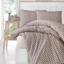 Постельное белье Karna Yumse, цвет кофейный, размер Евро - Karna (Bilge Tekstil)