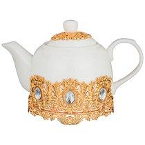 Чайник заварочный ПЛЮМАЖ ЗОЛОТОЙ 700 мл - Hangzhou Jinding