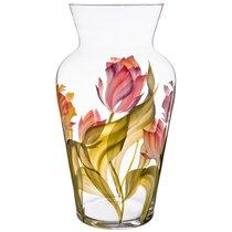 Ваза Тюльпаны Амфора Диаметр 12, 5 см Высота 30 см - ГлассМун