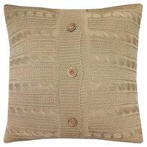 "Вязаный чехол для подушки ""Beige"", 45х45 см, 02-V005/1, цвет бежевый - Altali"