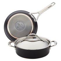 """Набор кухонной посуды Anolon """"Nouvelle Copper Luxe"""" (сотейник 2,8л , сковорода 25см , крышка) - Anolon"""