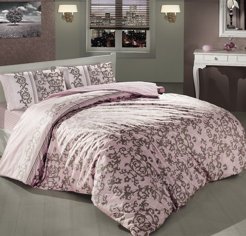 Постельное белье Ranforce Suave, цвет розовый, 1.5-спальный - Altinbasak Tekstil