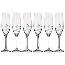 Набор Бокалов Для Шампанского Из 6 Штук Soho 220 мл - Diamante