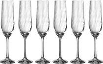 Набор бокалов для шампанского WATERFALL из 6 шт. 190 мл ВЫСОТА 24 см (КОР 8Набор.) - Crystalex