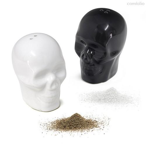 Солонка и перечница Skully, цвет черный - Balvi