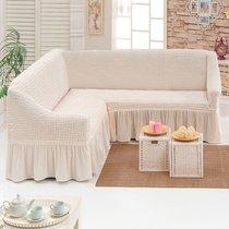 Чехол д/мягкой мебели Угловой (3 местный ) 1 пр. JUANNA, цвет кремовый - Meteor Textile