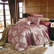 Комплект постельного белья JC-14, цвет бордовый, размер 1.5-спальный - Valtery