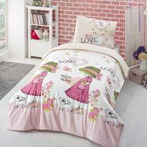 Постельное белье V Nice Day, подростковое, цвет розовый, 1.5-спальный - Altinbasak Tekstil