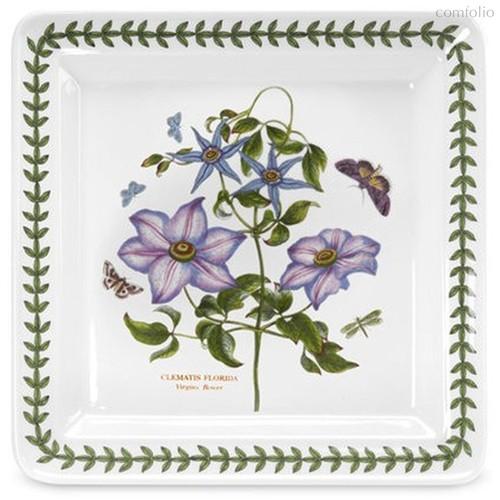"""Блюдо квадратное Portmeirion """"Ботанический сад. Клематис"""" 26,5см - Portmeirion"""