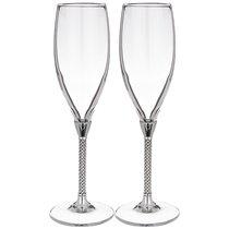 Набор Бокалов Для Шампанского Из 2 Шт Платиновые.250 мл Высота 25 см - Claret di Annamaria Gravina