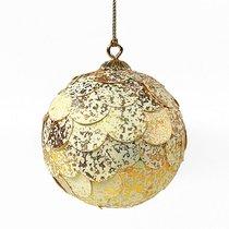 Шар новогодний декоративный Paper ball, золотистый мрамор - EnjoyMe