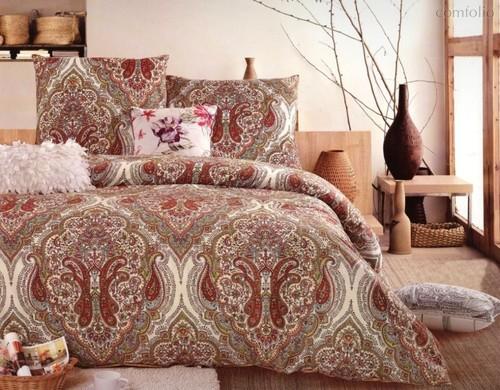 Комплект постельного белья С-178, цвет бордовый, размер 1.5-спальный - Valtery