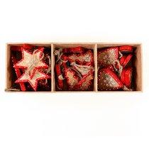 Украшения подвесные Stars/Trees/Hearts, деревянные, в подарочной коробке, 27 шт. - EnjoyMe