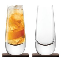 Набор из 2 бокалов на подставке из ореха Whisky Islay 325 мл - LSA International