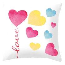 """Чехол для декоративной подушки """"Love"""", 45х45 см, P702-2021/1, цвет розовый, 45x45 - Altali"""