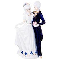 Статуэтка Влюбленная Пара Высота 21 см Серия Blau Weiss - Jinding