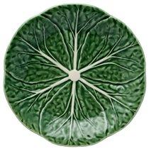 "Тарелка десертная Bordallo Pinheiro ""Капуста"" 19см, цвет зеленый, 19 см - Bordallo Pinheiro"