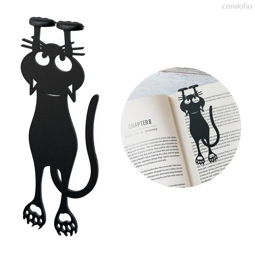 Закладка для книг Curious Cat, цвет черный - Balvi