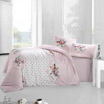 Постельное белье Ranforce Mira, цвет розовый, размер Евро - Altinbasak Tekstil