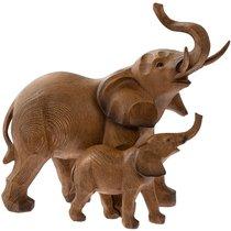Слониха со слоненком 25x24 см - Lesser & Pavey