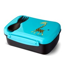 Ланч-бокс детский с охлаждающим элементом N'ice Box™ Giraffe бирюзовый, цвет бирюзовый - Carl Oscar