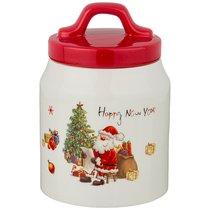 Емкость Для Сыпучих Продуктов С Новым Годом! 10x10x14 см / 600 мл - Huachen Ceramics